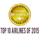 skytrax top 10 airlines 2015