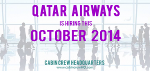 qatar airways cabin crew hiring october 2014